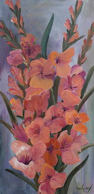 Gladiolus Painting - Gladiolus by Cher Devereaux