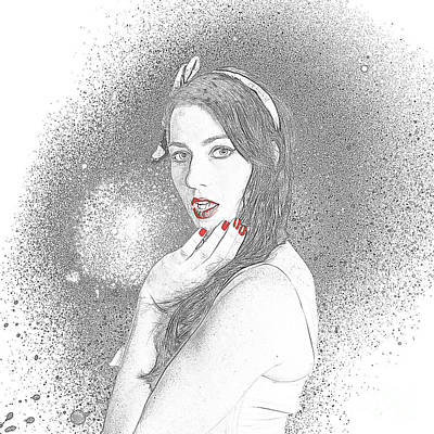 Hairstyle Digital Art - Glamour Art Pin Up by Jorgo Photography - Wall Art Gallery