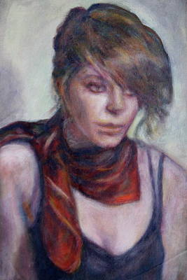 Updo Painting - Sale On Original Painting- Glamour Girl by Quin Sweetman