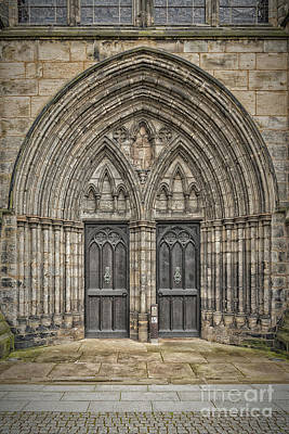 Medieval Temple Photograph - Glasgow Cathedral Doors by Antony McAulay