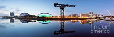 Armadillo Photograph - Glasgow Skyline Panorama by John Farnan