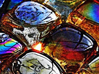 Iridescent Glass Photograph - Glass Abstract 2 by Sarah Loft