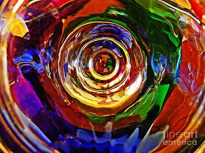 Glass Abstract 548 Print by Sarah Loft