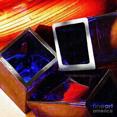 Glass Abstract 781 Print by Sarah Loft