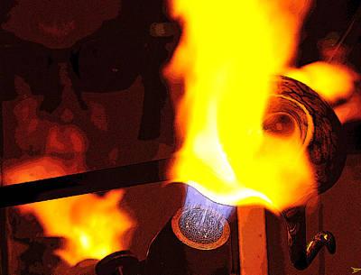 Fire Works Digital Art - Glass Artist by David Lee Thompson
