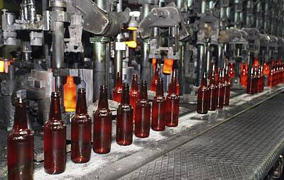 Glass Bottle Production Line Print by Ria Novosti