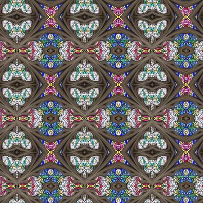 Mandala Photograph - Glass Cathedral Medieval Builders Ten by John Groves