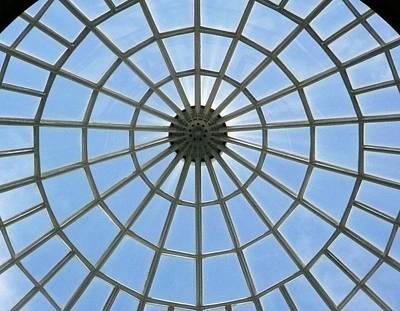 Glass Dome At Hall Of Liberation At Kelheim  Print by Lori Seaman