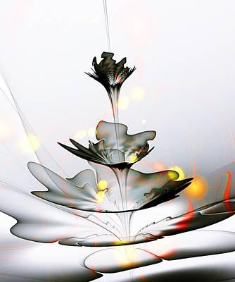 Mixed Media - Glass Flower by Anastasiya Malakhova