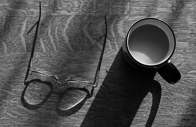 Glasses And Coffee Mug Print by David Gordon