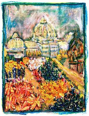 Painting - glasshouse on Bele Island by Don Thibodeaux