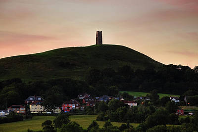 Gel Photograph - Glastonbury Tor - England by Joana Kruse