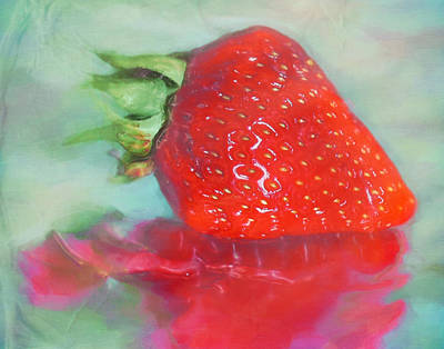 Passion Fruit Digital Art - Glazed Strawberry Love by Hal Halli