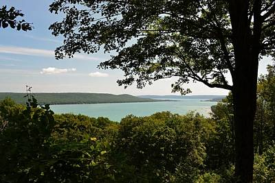 Lakeshore Digital Art - Glen Lake Overlook by Michelle Calkins