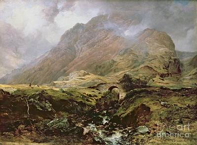 Ravine Photograph - Glencoe by Horatio McCulloch