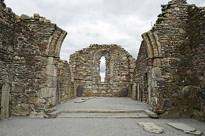 Glendalough Irish Monastic Site Cathedral Of Saints Peter And Paul Ruins Wicklow Print by Shawn O'Brien