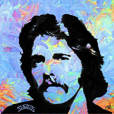 Celebrity Digital Art - Glenn Frey Two by Linda Mears