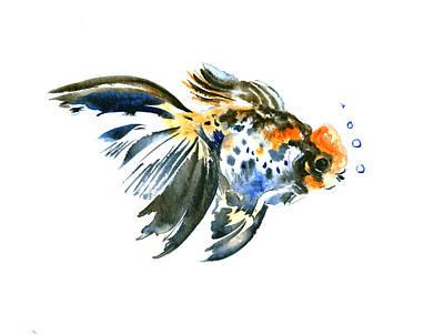 Fish Drawing - Goldfish by Suren Nersisyan
