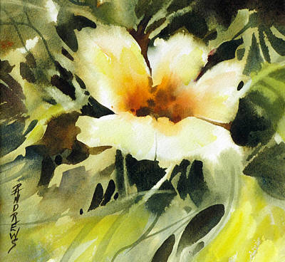 Wet Into Wet Watercolor Painting - Glimpse by Rae Andrews