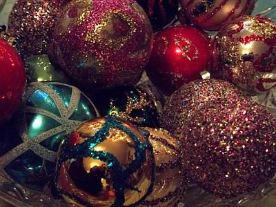 Christmas Photograph - Glitter Christmas Card by Anne Cameron Cutri