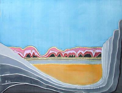 Global Warming Silk Melting Glaciers Valley Or Where Did All My Blue Glaciers Go  Print by Rachel Hershkovitz