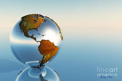 Globe Print by Corey Ford
