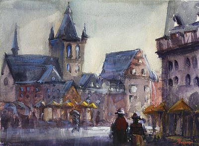 Germany Painting - Gloomy Day  by Kristina Vardazaryan