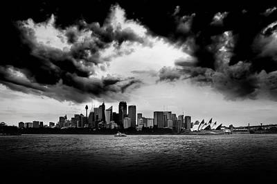 Gloomy Sydney Skies Print by Az Jackson