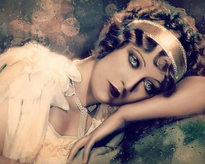 Digital Art - Gloria Swanson - Angel by Darlanne