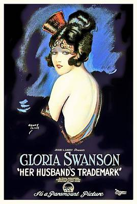 Gloria Mixed Media - Gloria Swanson In Her Husband's Trademark 1922 by Mountain Dreams