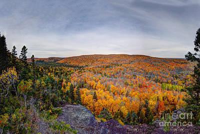 Glorious Autumn Lutsen Mountain Resort North Shore Minnesota Print by Wayne Moran
