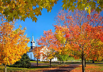 Zion Lutheran Church Photograph - Glorious Colors by Carolyn Derstine