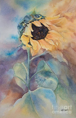 Sun Symbol Painting - Glorious Sunflower by Kate Bedell