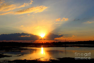 Glorious Sunset Print by Kathy  White