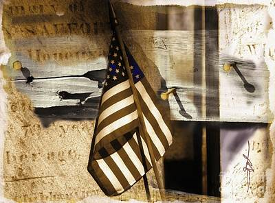 Old Glory Mixed Media - Glory by Bob Salo