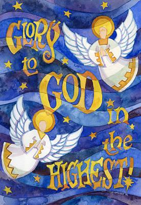 Incarnation Painting - glory to God by Mark Jennings