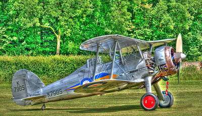 Raf Photograph - Gloster Gladiator 1938 by Chris Thaxter