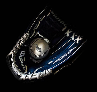 Glove And Ball Print by Martin Newman