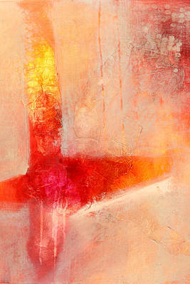 Tangerines Painting - Glow 2 Abstract Art by Nancy Merkle