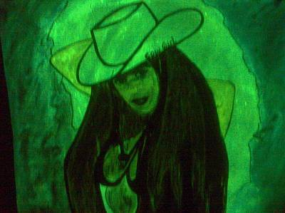 Etc Drawing - Glow Girl by HollyWood Creation By linda zanini