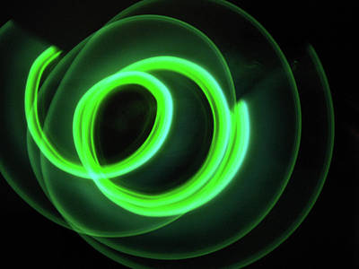 Glow Stick Motion Print by Denise Keegan Frawley