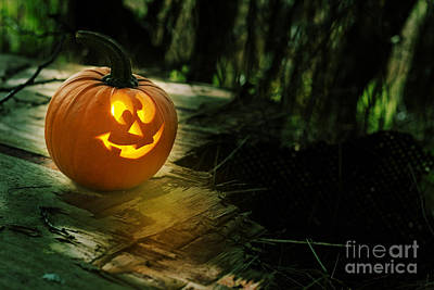 Harvest Time Photograph - Glowing Pumpkin by Amanda Elwell