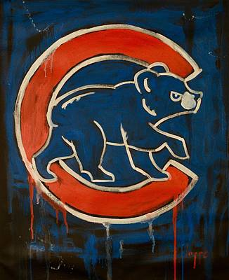 Loser Painting - Go Cubs by Steve Lappe