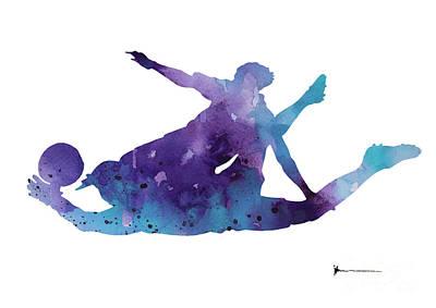 Goalkeeper Painting - Goalkeeper Poster by Joanna Szmerdt