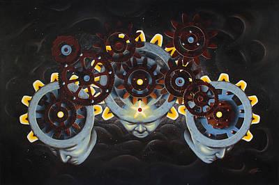 Chakra Painting - God Gear by Joe Burgess