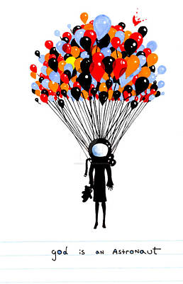 Astronauts Drawing - God Is Astronaut Baloon by Irendi Oktaviary Rizki