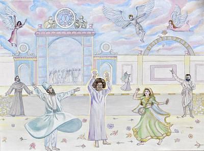 Baba Painting - Sathya Sai Baba God Is Our Best Friend  by Sonya Ki Tomlinson