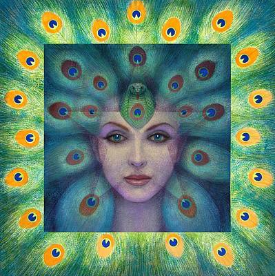Goddess Painting - Goddess Isis Visions by Sue Halstenberg