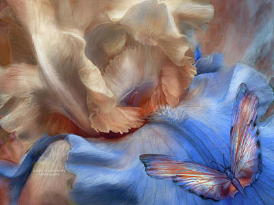 Irises Mixed Media - Goddess Of Earth And Sky by Carol Cavalaris