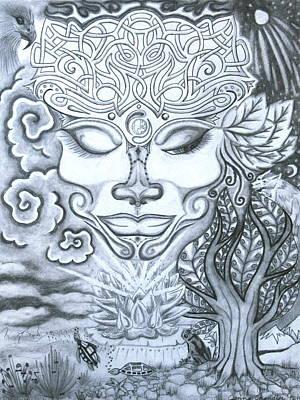 Cosmic Drawing - Goddess Of Feminine Divine by Jenna Chandler
